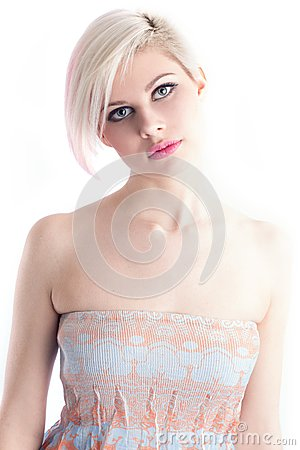 Beautiful Young Model in a Dress