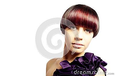 Beautiful young model fashion portrait