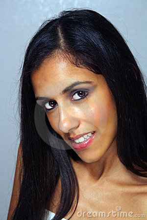Beautiful Young Multiracial Woman Headshot (2)