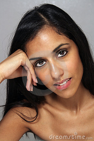 Beautiful Young Multiracial Woman Headshot (3)