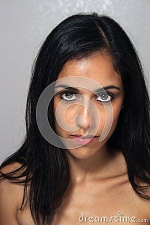 Beautiful Young Multiracial Woman Headshot (4)