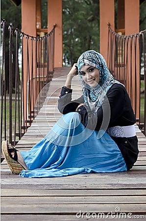 Beautiful young muslimah