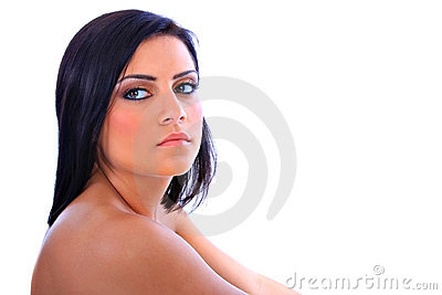 Beautiful Young Native American Female Model Portr Royalty Free Stock ...
