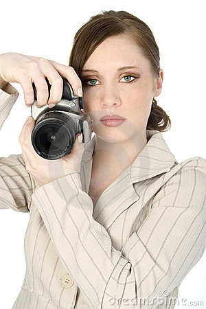 Free Beautiful Young Photographer Royalty Free Stock Image - 624636
