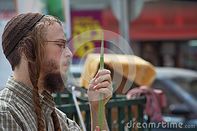 Beautiful young religious Jew with sidelocks Editorial Stock Photo