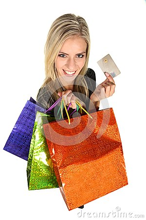 Free Beautiful Young Shopping Lady Royalty Free Stock Images - 47777819