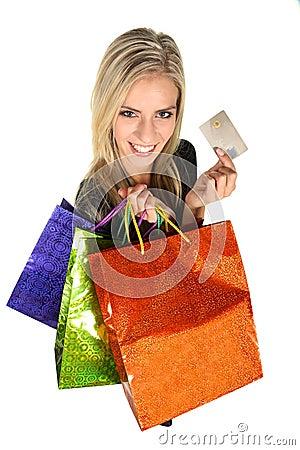 Beautiful Young Shopping Lady