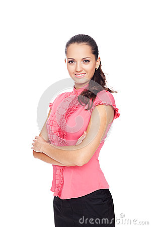 Beautiful young smiling businesswoman