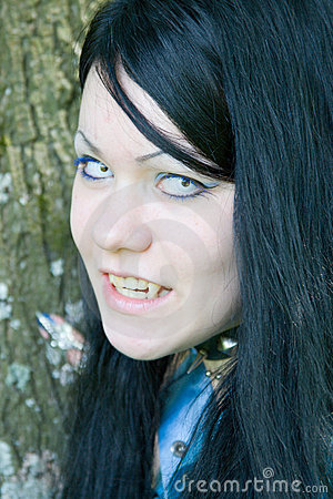 Beautiful Young Vampire Girl Stock Photo Image 6453470