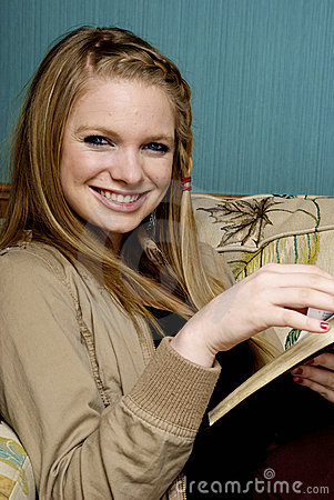 Beautiful Young Woman with  bible