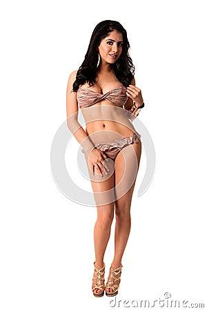 Beautiful young woman in bikini