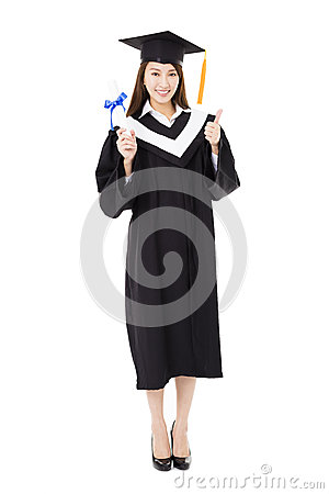 Free Beautiful  Young Woman College Graduate Portrait Stock Images - 66321384