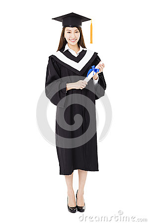 Free Beautiful  Young Woman College Graduate Portrait Royalty Free Stock Photo - 66321405