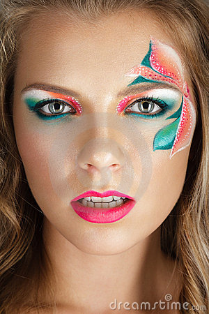 Beautiful young woman with creative