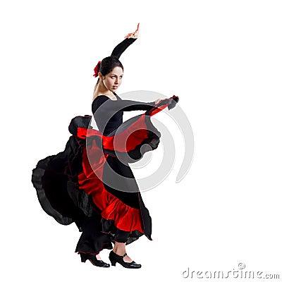 Free Beautiful Young Woman Dancing Flamenco Stock Photo - 13996120