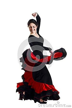 Free Beautiful Young Woman Dancing Flamenco Royalty Free Stock Photo - 14071915