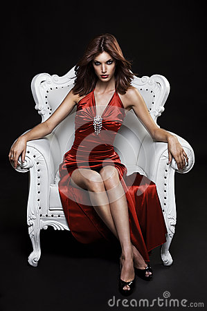 Free Beautiful Young Woman In A Chair Stock Photo - 30408660