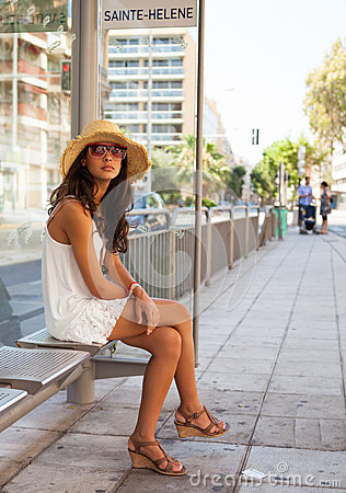 Beautiful young woman in Nice
