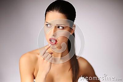 Beautiful young woman posing.