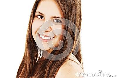Beautiful young woman - pure natural beauty.