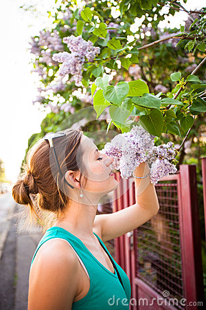Free Beautiful Young Woman Smelling Royalty Free Stock Photo - 79017075