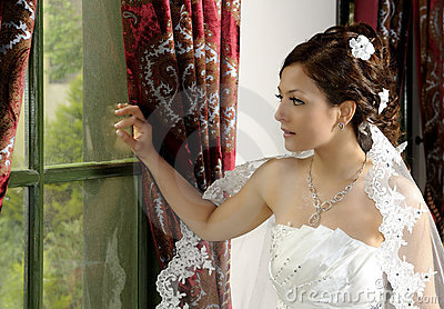 Beautiful young woman at wedding
