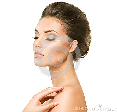 Free Beautiful Young Woman With Clean Fresh Skin Stock Photos - 42926293