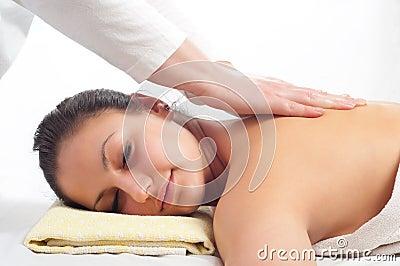 Beautiful young women getting a massage