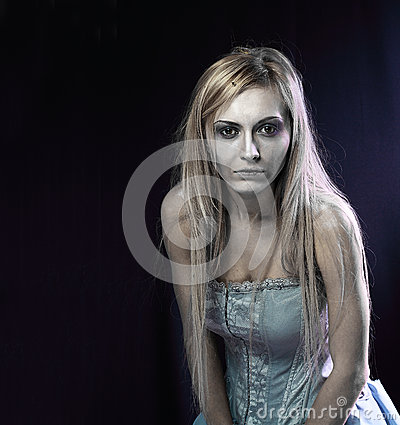 Beautiful zombie corpse bride