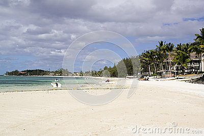 Beautifull beach on Mauritius
