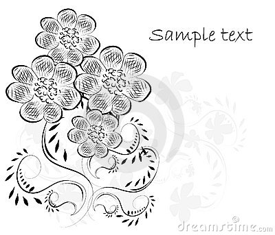 Beautifull decorative flower background