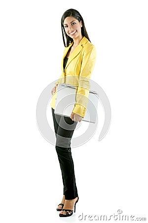 Free Beautifull Full Body Woman Portrait On White Stock Images - 10172904