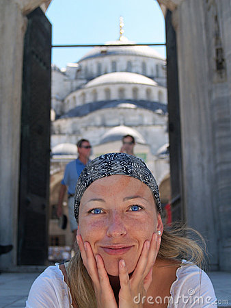 Beautifull girl in Istanbul