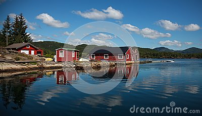 Beautifull Norway, boats and the boathouse