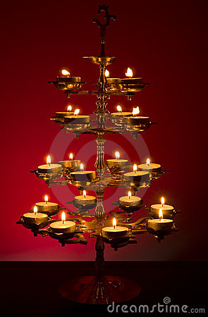 Beautifully Lit Lamp
