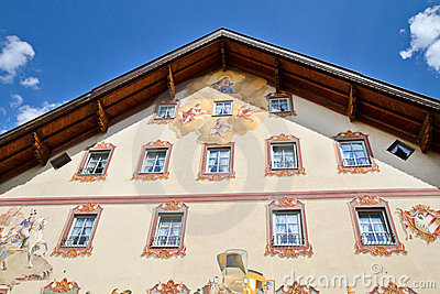 Beautifully painted house in Bavaria