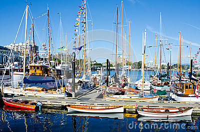 Beautifully restored classic boats Editorial Stock Image