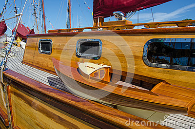 Beautifully restored classic sail boat