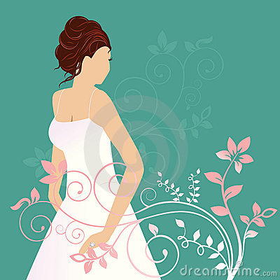 Beautiiful bride with diamond ring