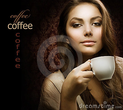 Free Beautuful Woman With Cup Of Coffee Royalty Free Stock Photos - 16978918