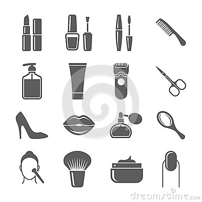 Free Beauty And Makeup Icons Royalty Free Stock Photo - 48729685