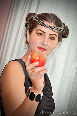 Beauty and apple