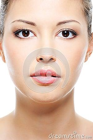 Beauty asian female face