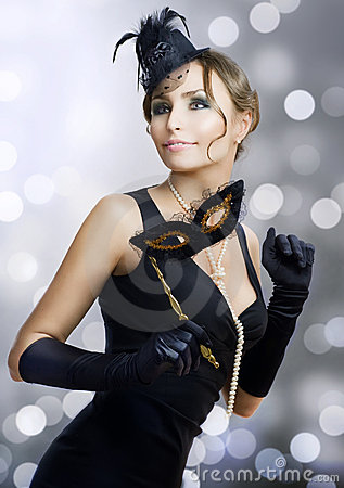 Free Beauty At The Ball.Celebration Royalty Free Stock Photo - 17046875