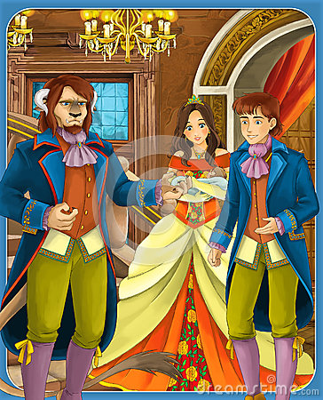 Beauty and the beast - Prince or princess - castles - knights and fairies - illustration for the children