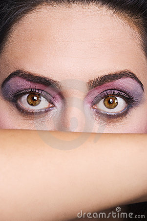 Free Beauty Big Woman Eyes Stock Image - 10842531