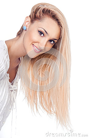 Beauty blond women smiling