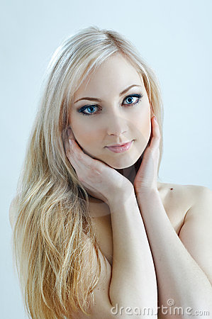 Beauty blonde in cold colours