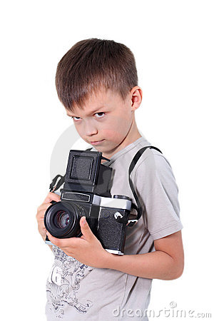 Beauty Boy Photographer Stock Image - Image: 13366451