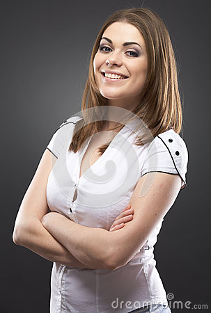 Beauty casual young woman portrait